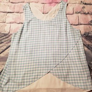 Checkered blouse from Charming Charlie